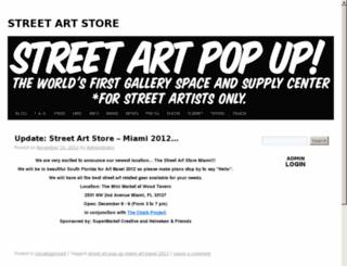 streetartpopup.com screenshot
