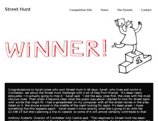 streethunt.co.uk screenshot