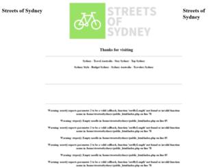streetsofsydney.com.au screenshot