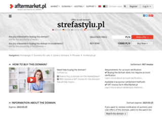 strefastylu.pl screenshot
