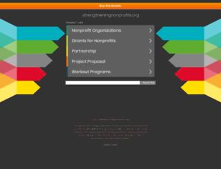 strengtheningnonprofits.org screenshot