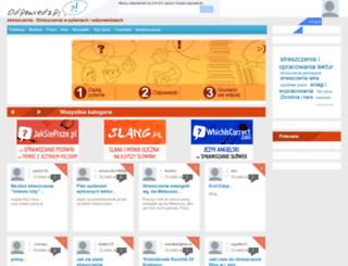 streszczenia.odpowiedz.pl screenshot