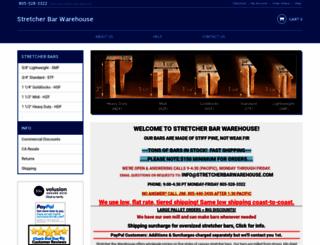 stretcherbarwarehouse.com screenshot