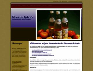 streuner-schorle.de screenshot