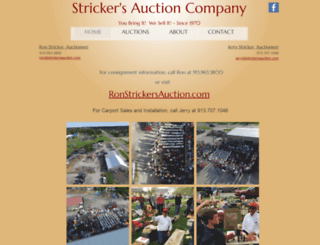 strickersauction.com screenshot