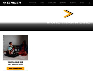 striderbike.com screenshot