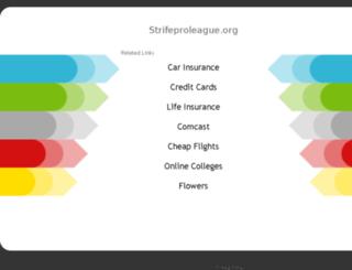 strifeproleague.org screenshot