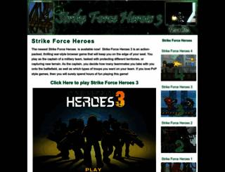 strikeforceheroes3.org screenshot