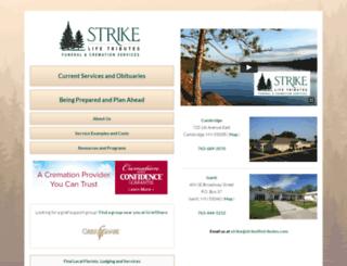 strikefuneral.com screenshot