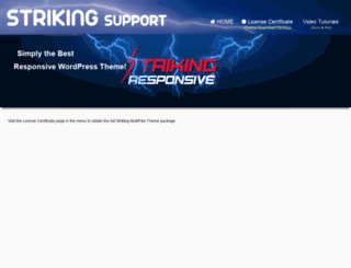 strikingsupport.com screenshot