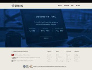 string-db.org screenshot