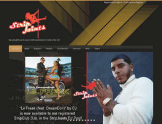 stripjointsmusic.com screenshot