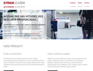 stroje-vlasim.cz screenshot