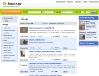 stroje.ex-bazar.cz screenshot