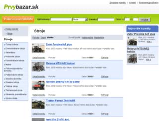 stroje.prvybazar.sk screenshot