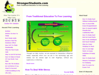 strongerstudents.com screenshot