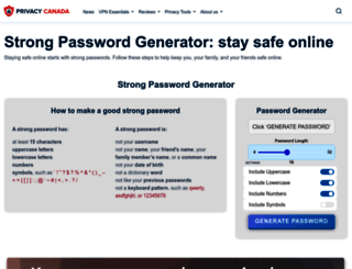 strongpasswordgenerator.com screenshot