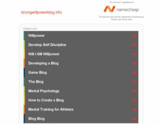 strongwillpowerblog.info screenshot