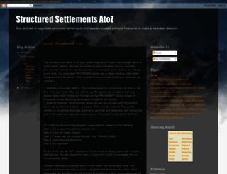 structuredsettlementsatoz.blogspot.com screenshot