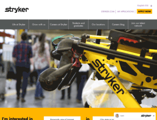 stryker-careers.com screenshot