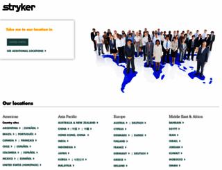 stryker.com screenshot