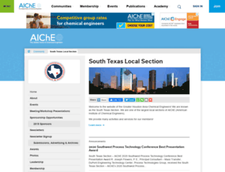 sts.aiche.org screenshot