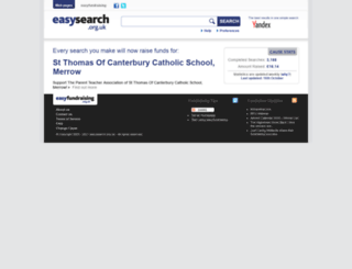 stthomascatholicschool.easysearch.org.uk screenshot