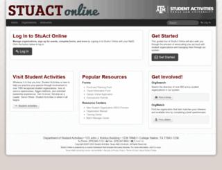 stuactonline.tamu.edu screenshot