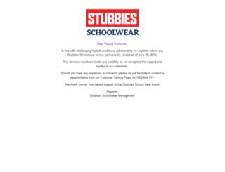 stubbiesschoolwear.com.au screenshot