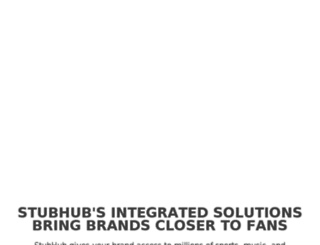 stubhub.triadretail.com screenshot