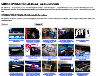 studderpromotional.co.za screenshot
