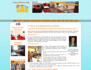 student-accommodation-madrid.com screenshot