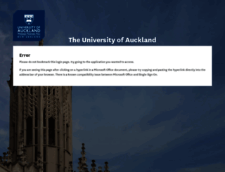 student.auckland.ac.nz screenshot