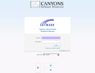 student.canyonsdistrict.org screenshot