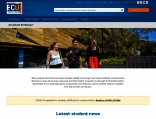 student.ecu.edu.au screenshot
