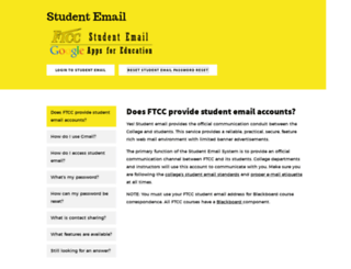 student.faytechcc.edu screenshot