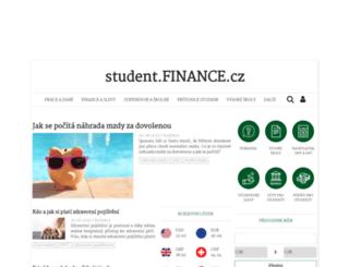 student.finance.cz screenshot