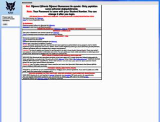 student.gau.edu.tr screenshot