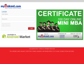 student.mybskool.com screenshot