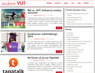 student.vutbr.cz screenshot