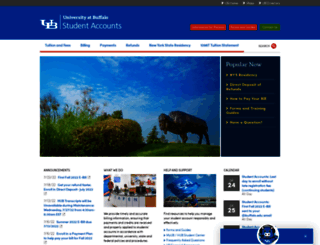 studentaccounts.buffalo.edu screenshot