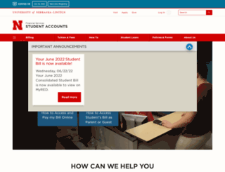 studentaccounts.unl.edu screenshot
