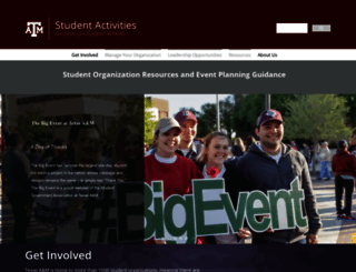 studentactivities.tamu.edu screenshot