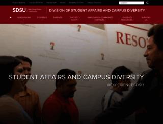 studentaffairs.sdsu.edu screenshot
