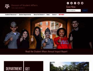 studentaffairs.tamu.edu screenshot