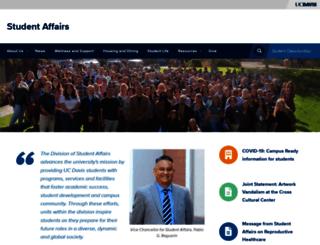 studentaffairs.ucdavis.edu screenshot
