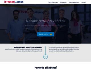 studentagency.jobs.cz screenshot