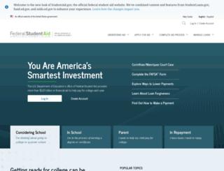 studentaid.ed.gov screenshot