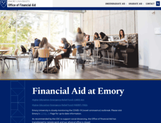 studentaid.emory.edu screenshot