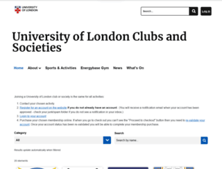 studentcentral.london screenshot